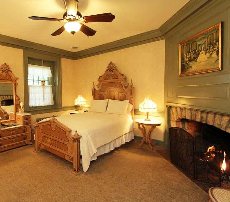 Fireplace Room at Rocky Acre Farm